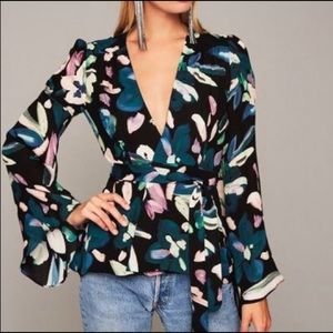 $295 NWT Stone Cold Fox Beverly blouse silk 0 XS